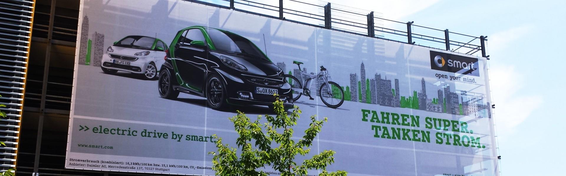 Banner Drucken: SMS Werbetechnik druckt Banner auf PVC Planen, Mesh und Textilbanner