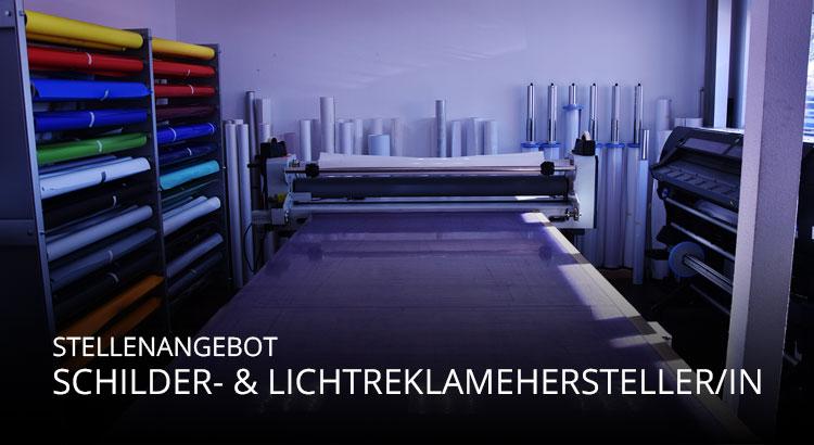 Stellenangebot Schilder- und Lichtreklamehersteller/in Stuttgart