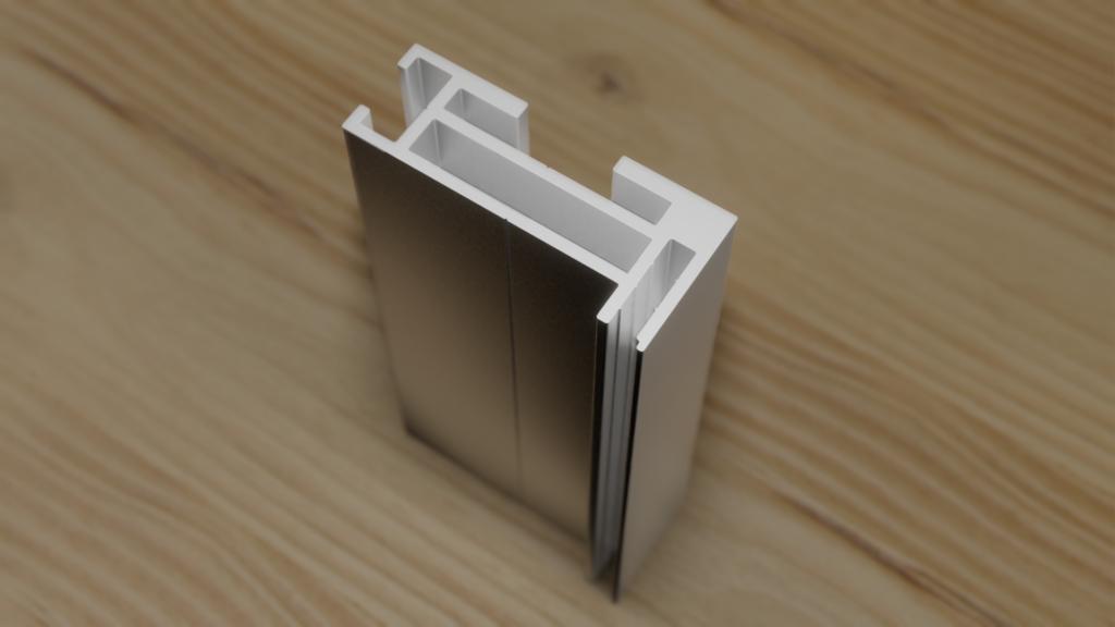 Flachkeder Aluminium-Profil für Textilbanner in Innenbereichen
