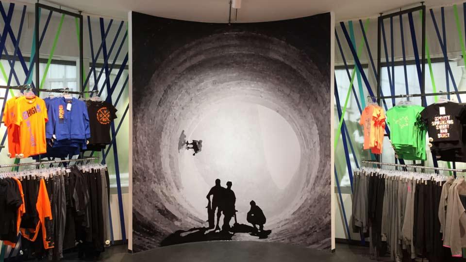 Raumdesign mit Klebefolien an Wänden