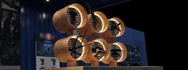 Herstellung und Akquise von Möbeln für Messen.