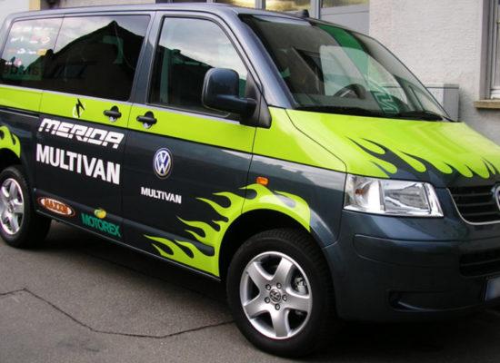 Fahrzeugwerbung auf Transportern und Firmenfahrzeugen