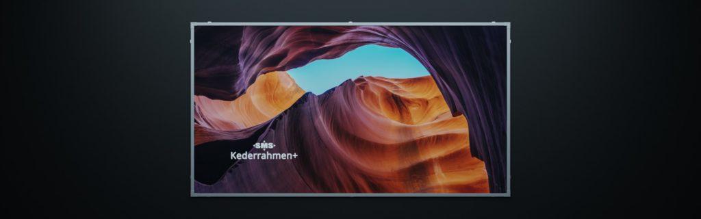 Kederrahmen: Werbesystem für Fassadenwerbung mit Werbebannern