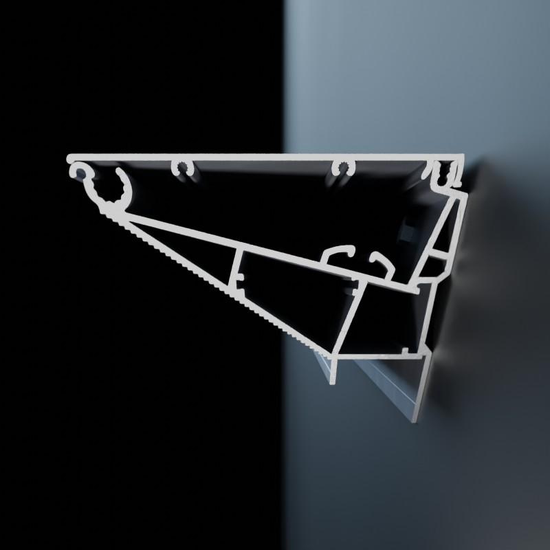 Ansicht diagonaler Querschnit tAluminiumprofile des Tenso Frame