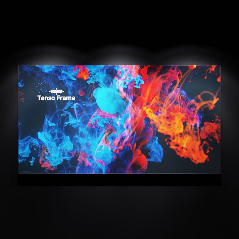 Front beleuchteter Tenso Frame zur Darstellung von Außenwerbung bei Nacht