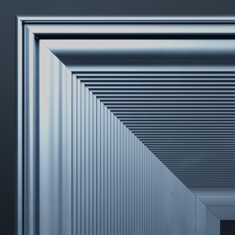 Frontansicht der Gehrung an der Ecke des Tenso Frame