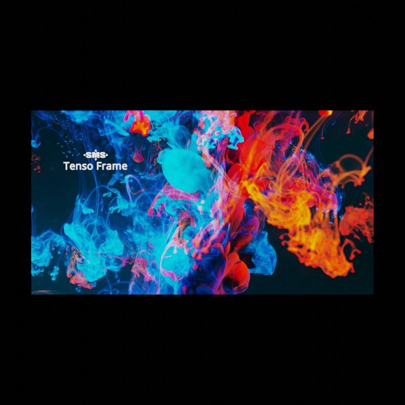 Hinterleuchteter Tenso Frame zur Darstellung von Außenwerbung bei Nacht