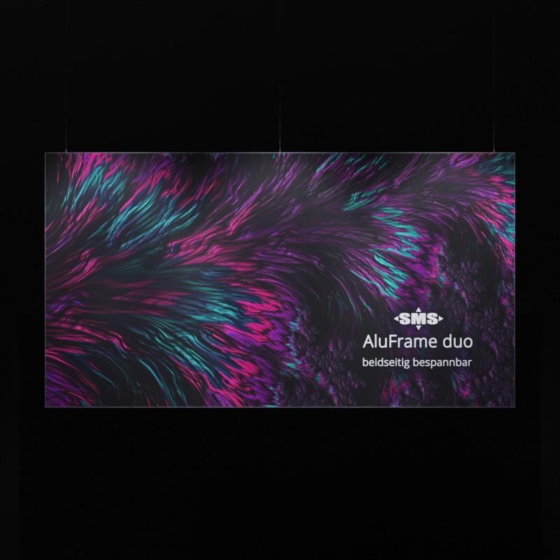 AluFrame duo abgehängt, front-beleuchtet