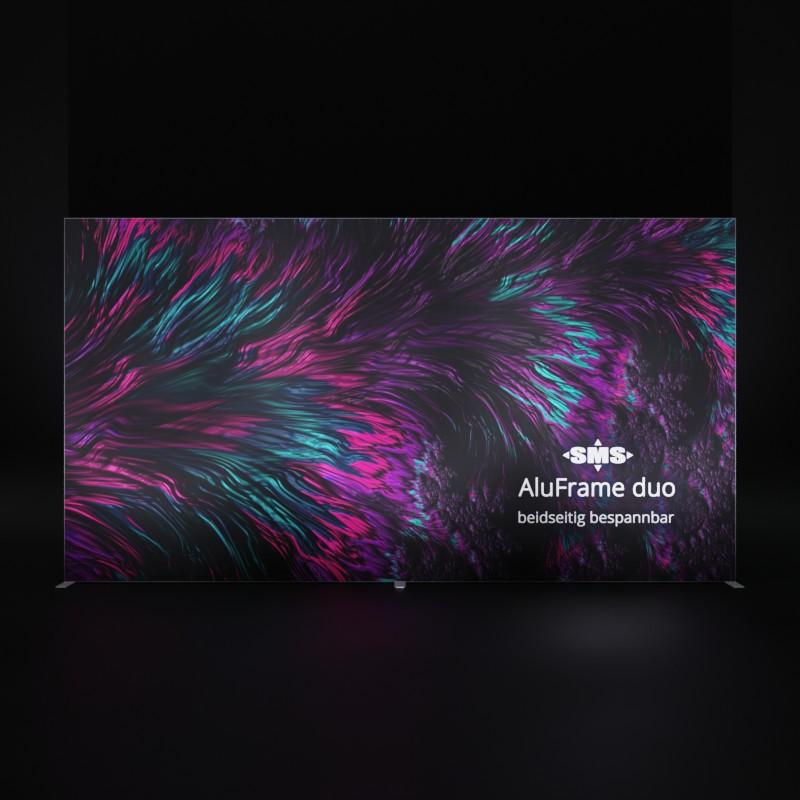 AluFrame duo aufgestellt, front-beleuchtet