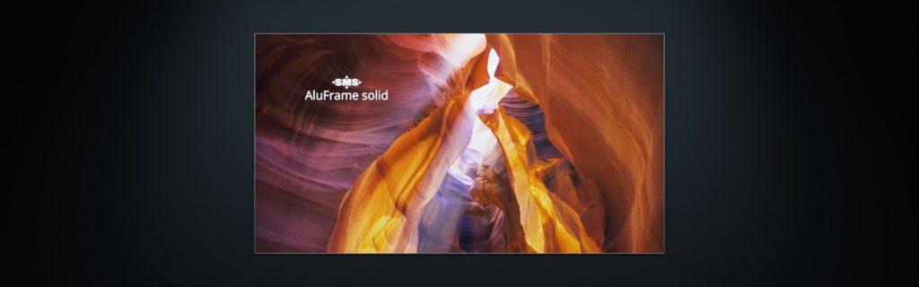 Solider Textilrahmen aus Aluminium zur Befestigung von Textildruck: AluFrame solid