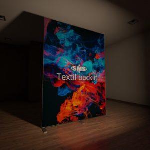 Textil backlit, hier der Textildruck front-beleuchtet