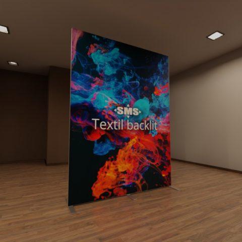 Textil backlit, hier der Textildruck mit Umgebungslicht