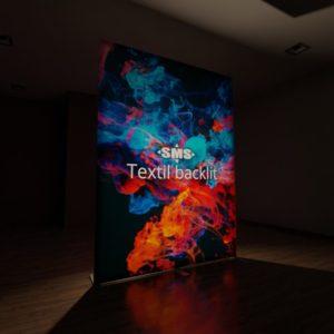 Textil backlit, hier der Textildruck hinterleuchtet