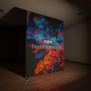 Textil standard, hier front-beleuchteter Textildruck