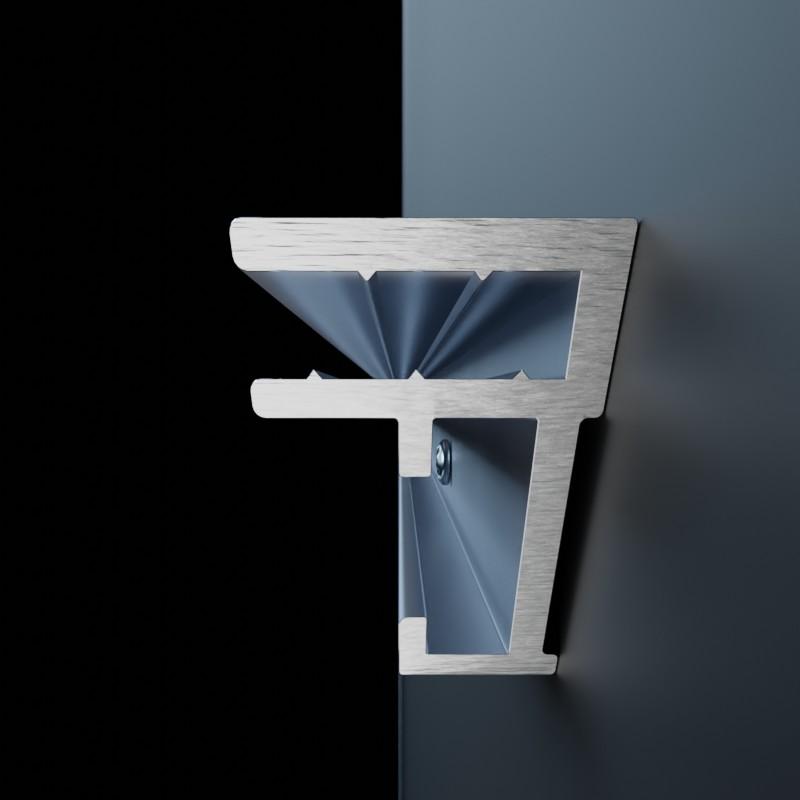 AluFrame light: Aluminium-Profilschiene im Querschnitt