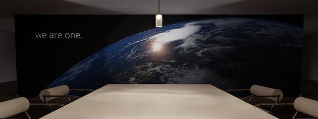 Textildruck für großformatige Werbung in Innenbereichen
