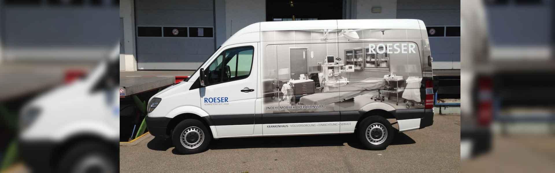 Foliendruck: Klebefolien bedrucken für Fahrzeugwerbung