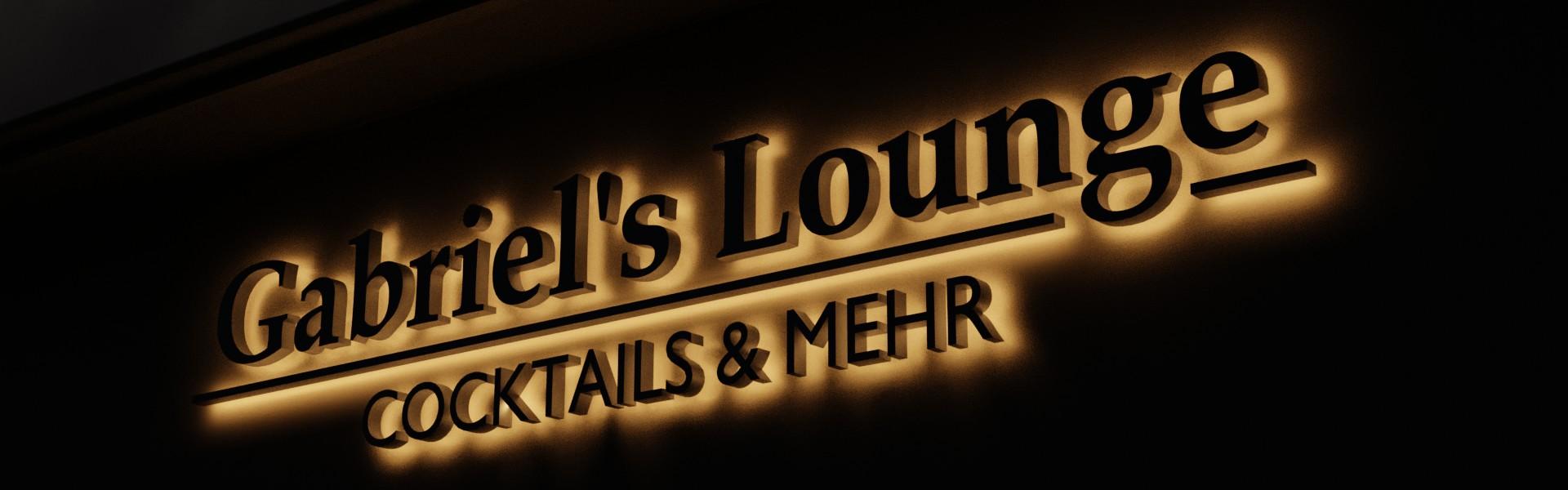 Lichtwerbung: Leuchtbuchstaben und 3D Logos für Ihre Leuchtreklame (Beispiel Lounge Nacht)