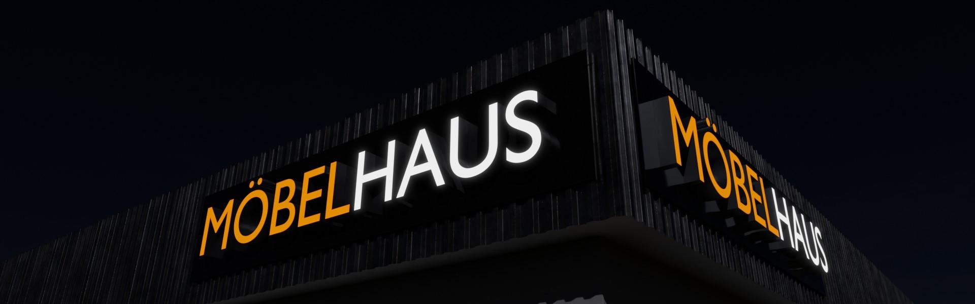 Lichtwerbung: Leuchtbuchstaben und 3D Logos für Ihre Leuchtreklame (Beispiel Möbelhaus Nacht)