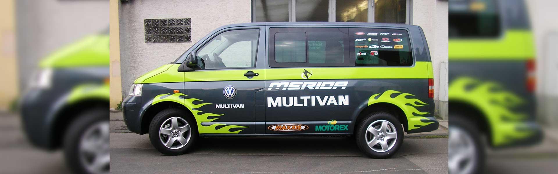 Beschriftung eines VAN. Fahrzeugbeschriftung und Car-Wrapping in Stuttgart und Umgebung.