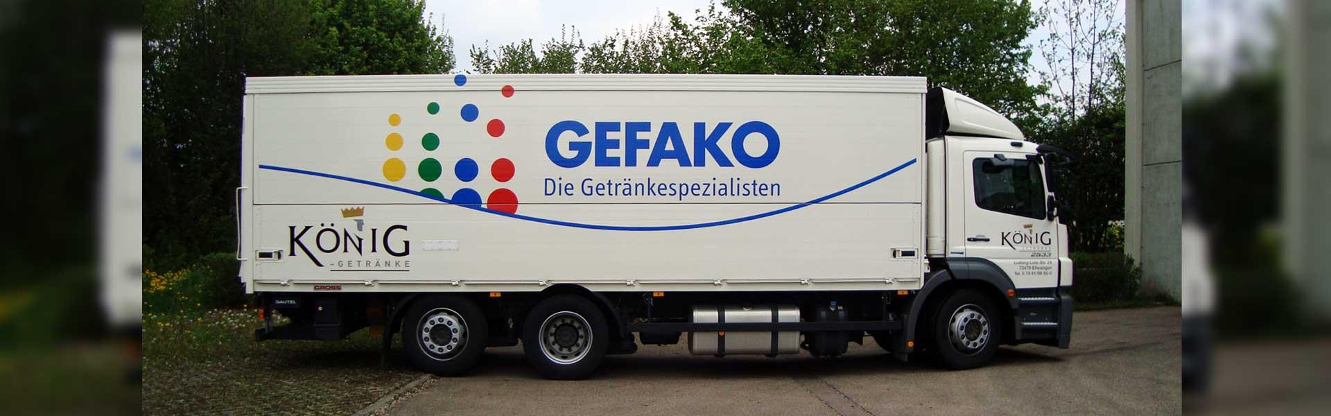 Fahrzeugbeschriftung eines Lkw. Hochwertiges Car-Wrapping und Autofolierung in Stuttgart und Umgebung.