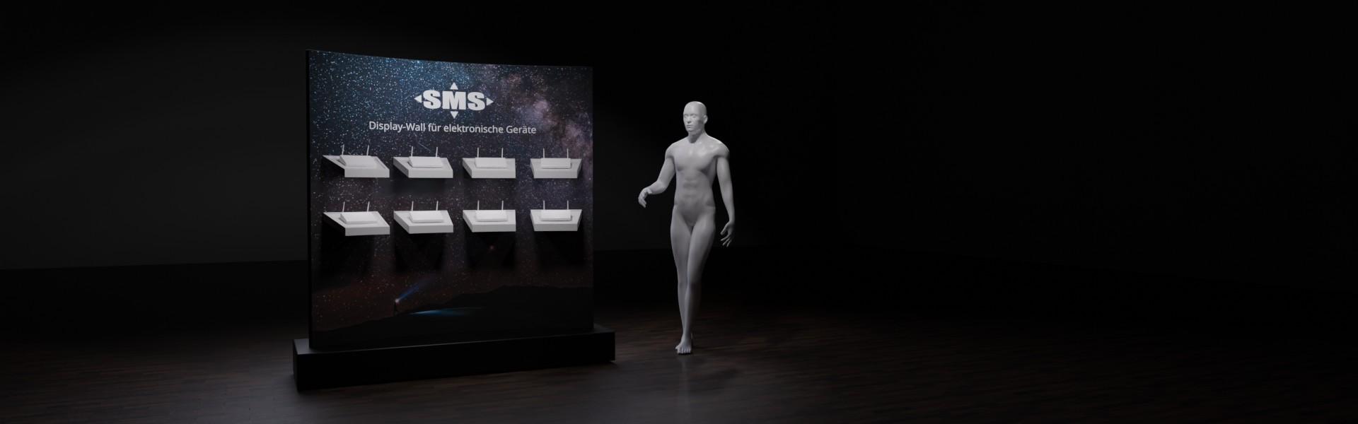 Bewegliche Wand zur Ausstellung elektronischer Geräte