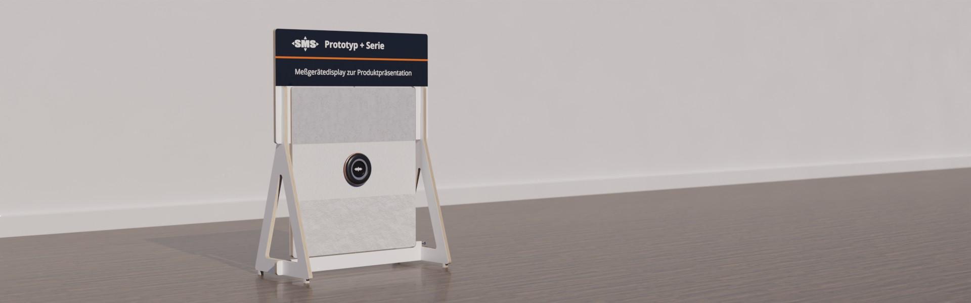 Display zur Produktpräsentation eines Lasermeßgerätes