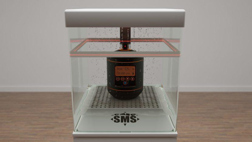 Sonderanfertigung eines Displays zur Ausstellung eines Laser-Meßgerätes