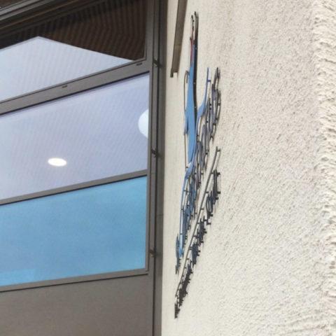 AusAußenwerbung mit 3D Logo und 3D Schriftzug für den Sankt Christopherus Kindergarten, Weil der Stadt