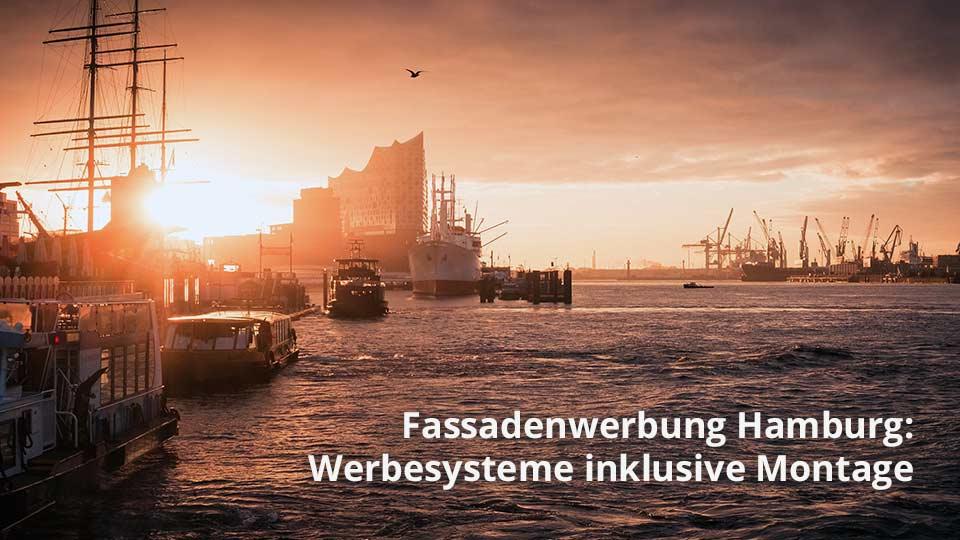 Fassadenwerbung Hamburg: Hochwertige Werbesysteme zur Befestigung von Werbebannern inklusive Montage