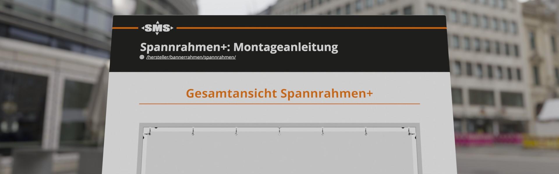Montageanleitung Spannrahmen+, Werbeanlage für Fassadenwerbung