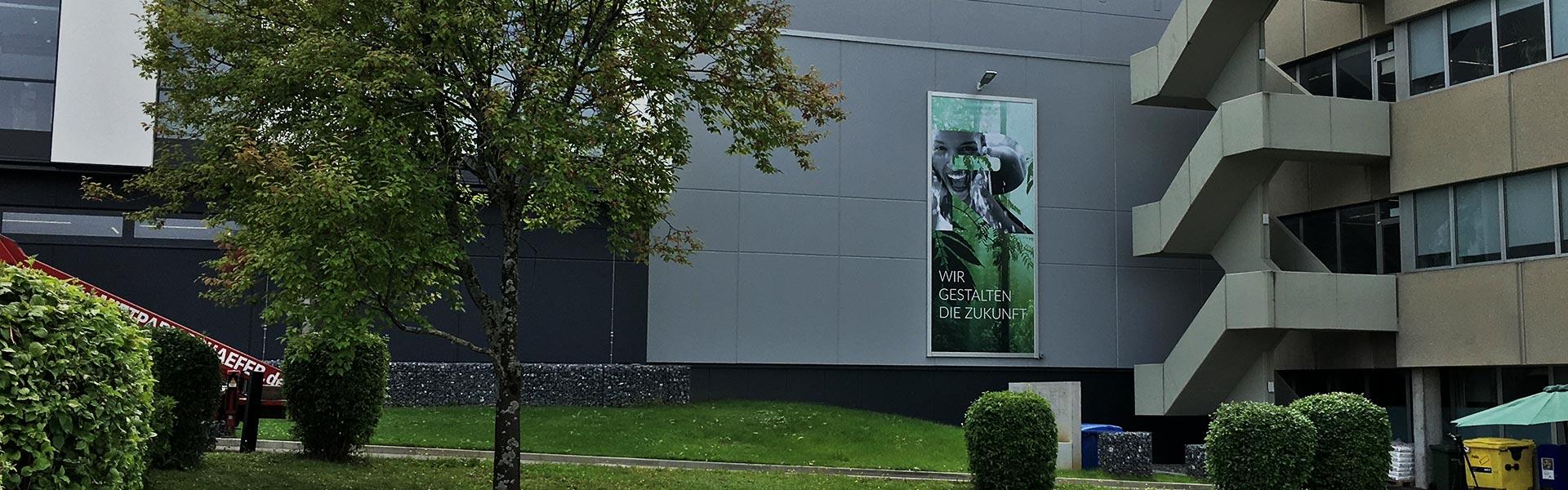 Unser Werbelifter+ für die Firma Reisser AG in Böblingen, größere Distanz
